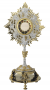 AOS802GS - Ostensorio base oro argento